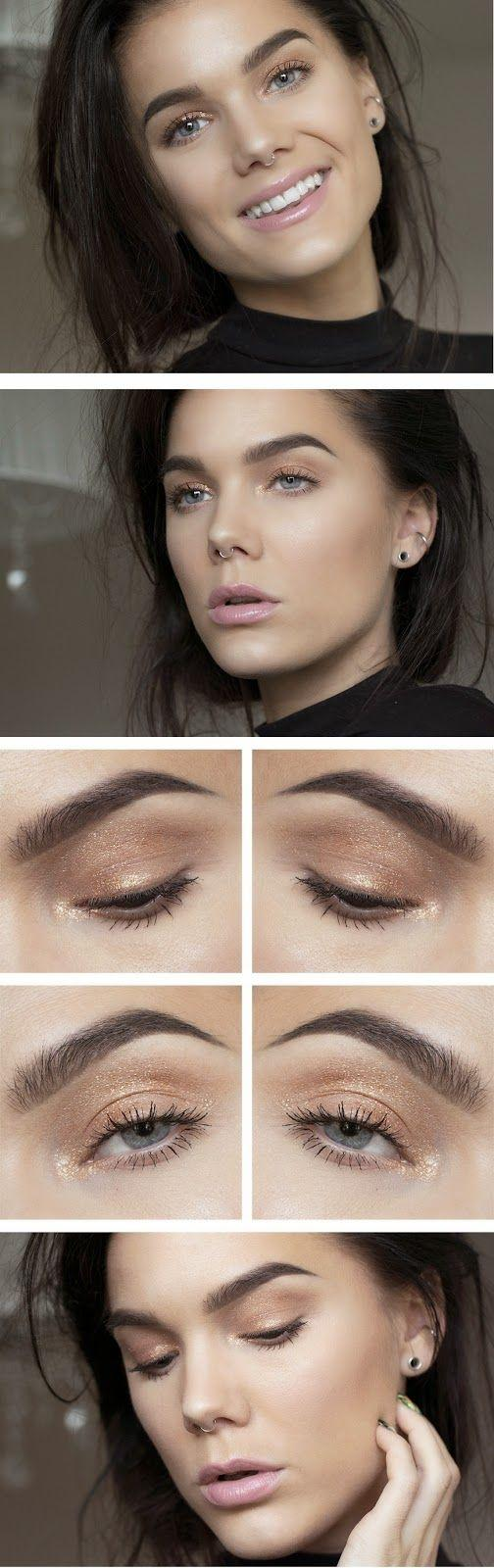 Wedding - How To Chic: GOLD SEQUIN EYESHADOW MAKE UP BY LINDA HALLBERG