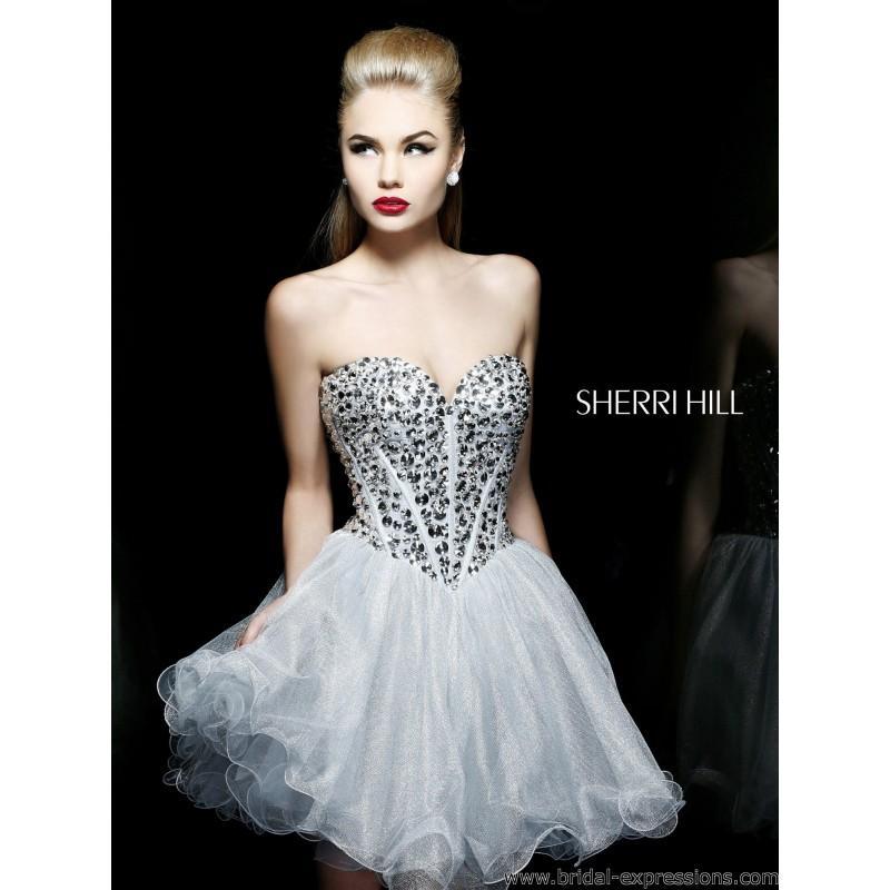 Свадьба - Sherri Hill 21205 Short Babydoll Homecoming Dress - Crazy Sale Bridal Dresses