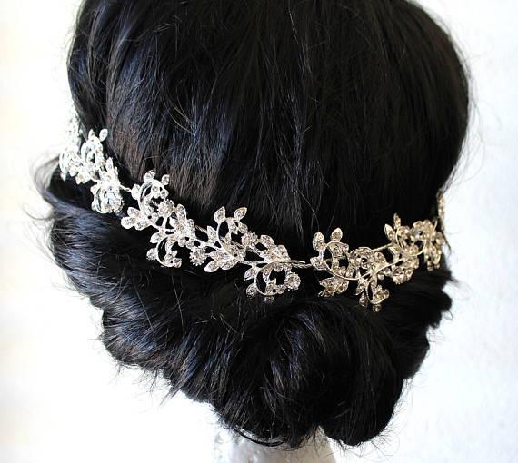 Wedding - Wedding Headband, Bridal Hair Accessories, Crystal Headpiece, Wedding Headpiece, Decorative Hair Accessory, Wedding Vine, Hair Accessory