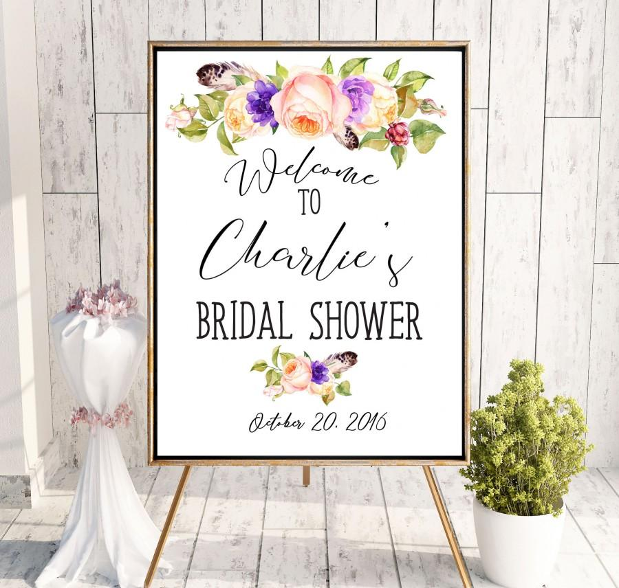 Wedding - Countdown Bridal Shower Printable Welcome Sign Bridal Shower decoration Instant Download Bridal Shower banner Welcome Sign Shower idbs19 - $10.00 USD