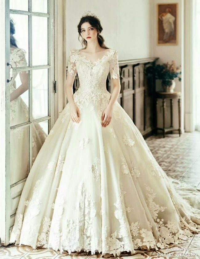 This Princess-inspired Wedding Gown From Clara Wedding Featuring ...