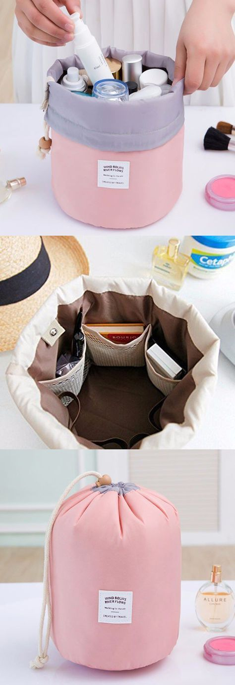 Hochzeit - Woman Cosmetic Storage Kit Toiletry Kit Bathroom Amenities Travel Storage Bag