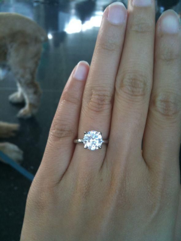 Jewelry 2 Carat Engagement Rings On Hand 5 2741380 Weddbook