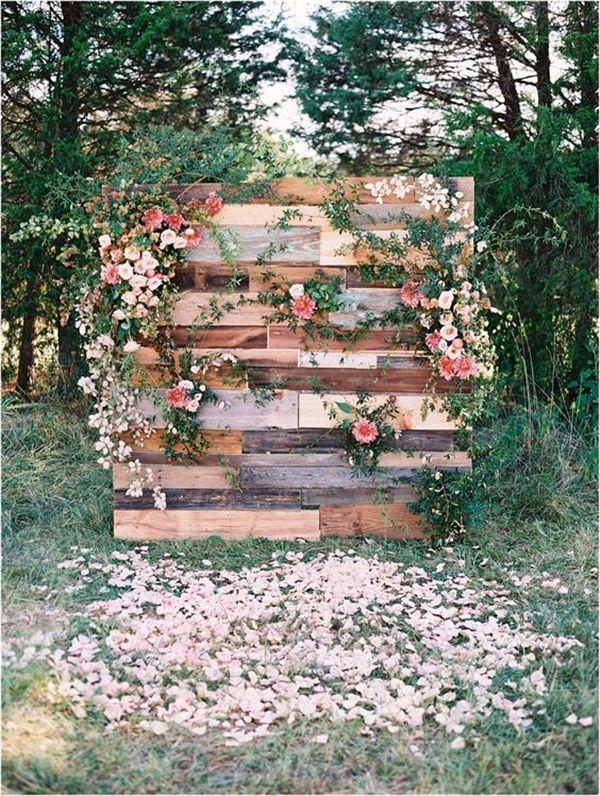 25 Rustic Outdoor Wedding Ceremony Decorations Ideas 2741441 Weddbook