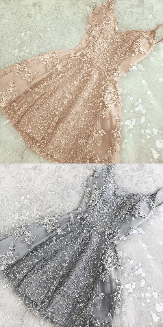 Wedding - Champagne Homecoming Dresses,Short