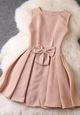 Wedding - Fashion Bow Sleeveless Dress