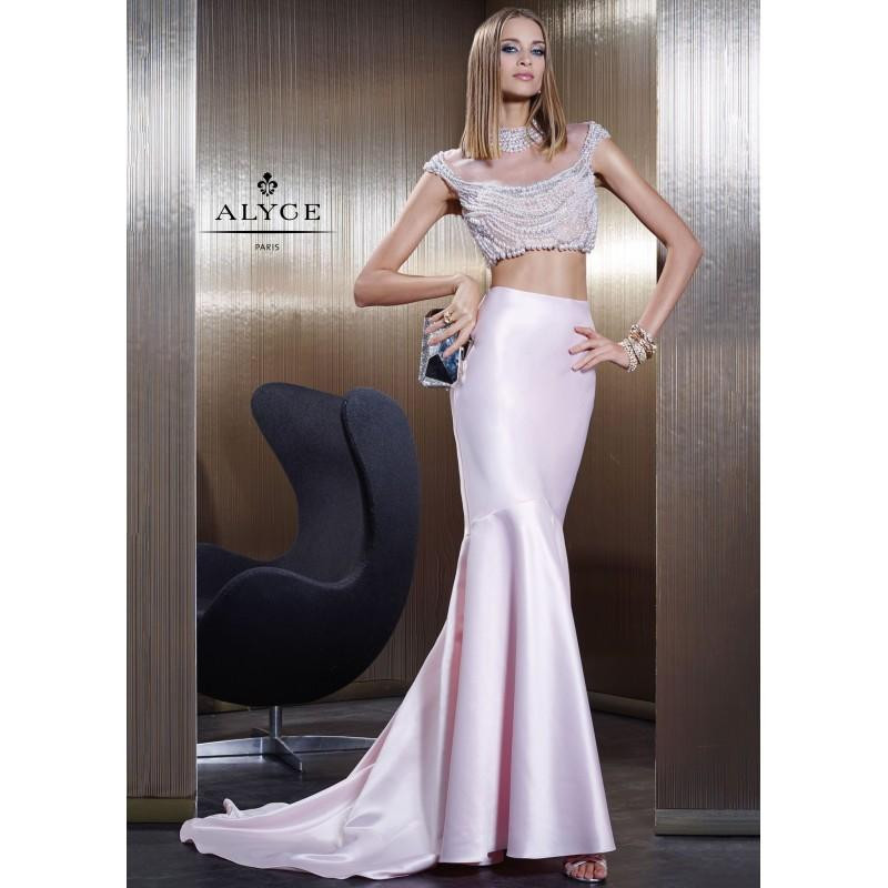 Wedding - Claudine For Alyce 2486 Pearl Crop Top Gown - 2017 Spring Trends Dresses