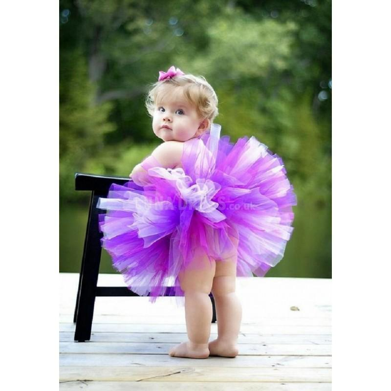 Свадьба - Colorful Ball Gown Short Tulle With Ruffles Flower Girl Dress - Compelling Wedding Dresses
