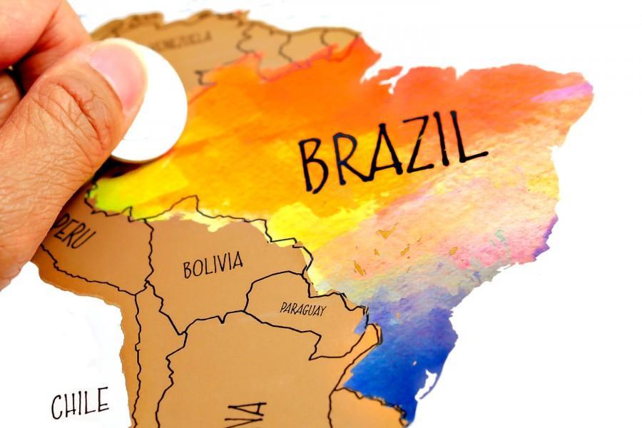 Watercolor World Scratch Off Map Travel Tracker Weddbook - Us map travel tracker