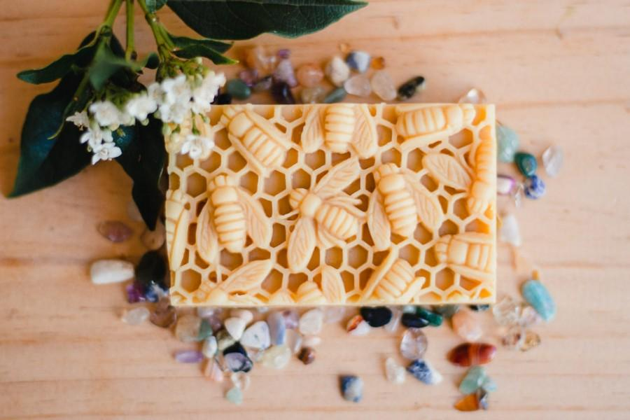 Wedding - Natural Soap with Honey and Beeswax /Gift under 20 / Gift for her/gift for him, Organic ingredients, May Chang, Grapefruit, natural, no palm