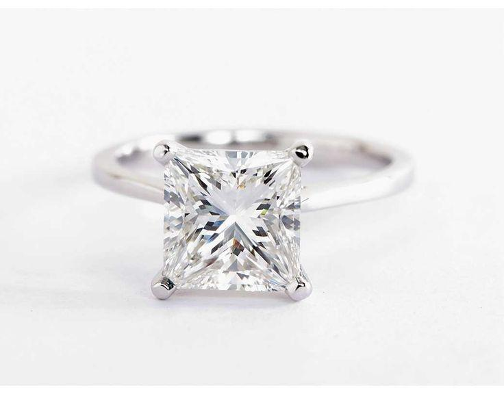Mariage - Petite Cathedral Solitaire Engagement Ring In Platinum