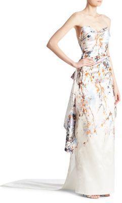 Mariage - Monique Lhuillier Strapless Column Gown