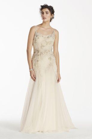 Düğün - Melissa Sweet Net Wedding Dress With Straps Style MS251111