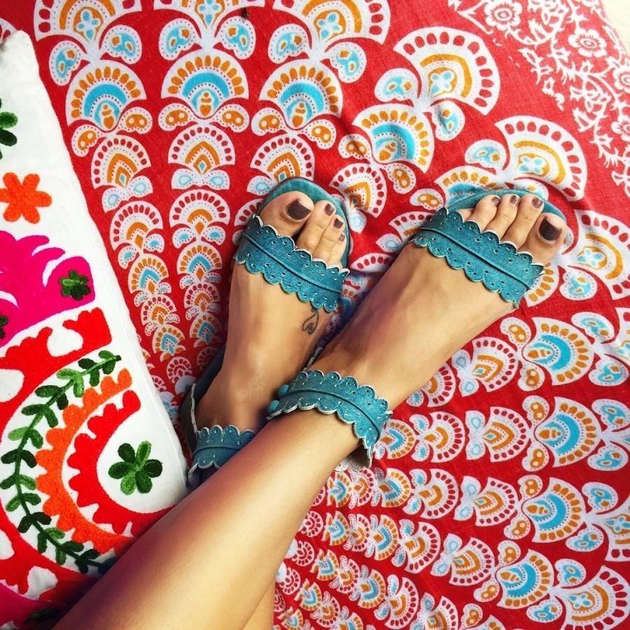 Свадьба - MIDSUMMER. Boho leather sandals / barefoot leather sandals / women shoes / flat shoes / boho shoes / barefoot sandals
