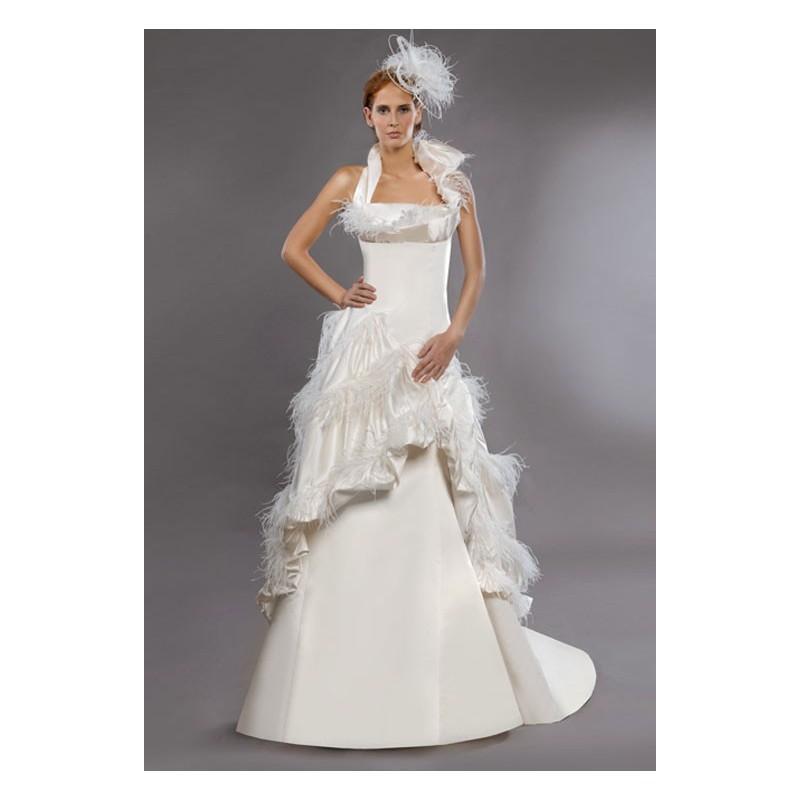 Hochzeit - Vestido de novia de Marga Sánchez Modelo Versalles C - Tienda nupcial con estilo del cordón