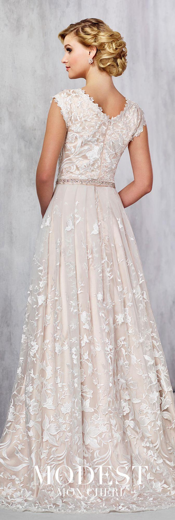 Mariage - Embroidered Lace Wedding Dress - Modest By Mon Cheri TR21724