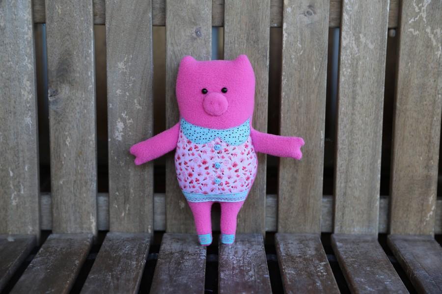 Свадьба - Special offer: plush toy pink pig. Pig plush toy. Adorable stuffed animanl. Handmade pig. Piggy toy. Piglet toy. Pig softie. Plush piggy