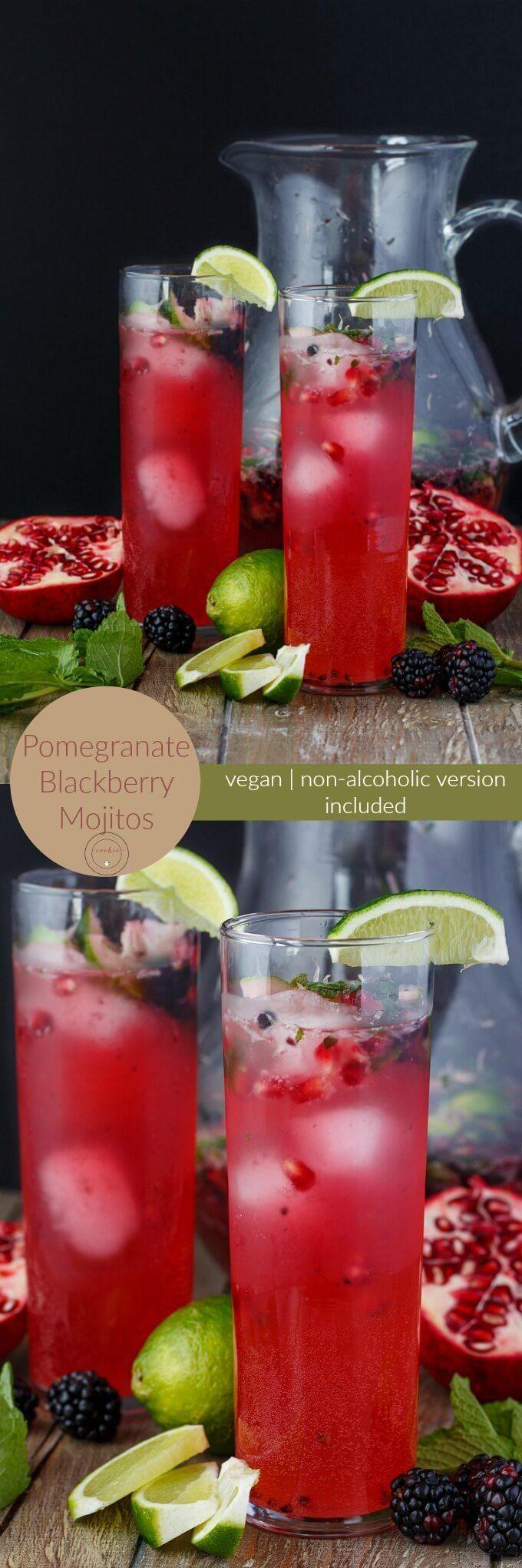 زفاف - Pomegranate Blackberry Mojitos