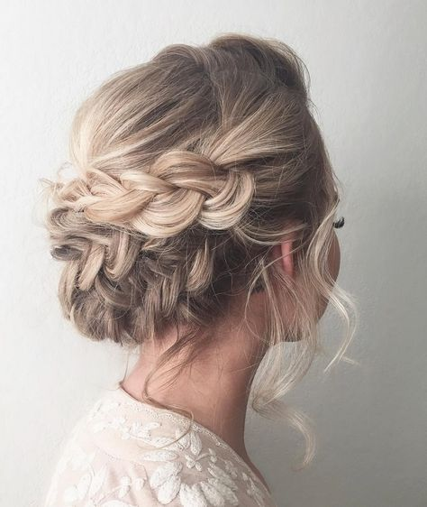 Beautiful Braid Updo Wedding Hairstyle For Romantic Bohemian Brides ...