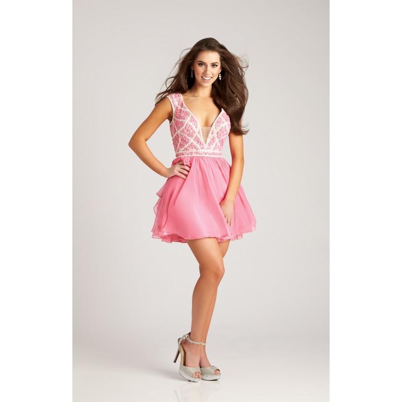 Свадьба - Aqua Madison James 17-110  Prom Dress 17110 - Short Chiffon Dress - Customize Your Prom Dress