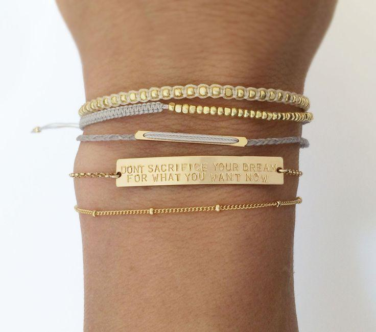 Wedding - Personalized OR Blank Gold Bar Bracelet / Name Bar Bracelet / Personalized Jewelry Large Legacy Bar Bracelet Layered Long LB160_38_B