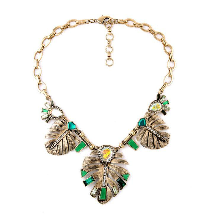Wedding - Green Feather Necklace