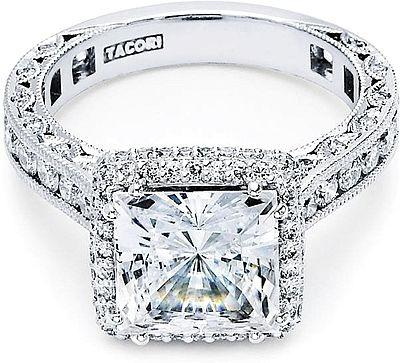 Wedding - Tacori RoyalT Princess Cut Halo Diamond Engagement Ring