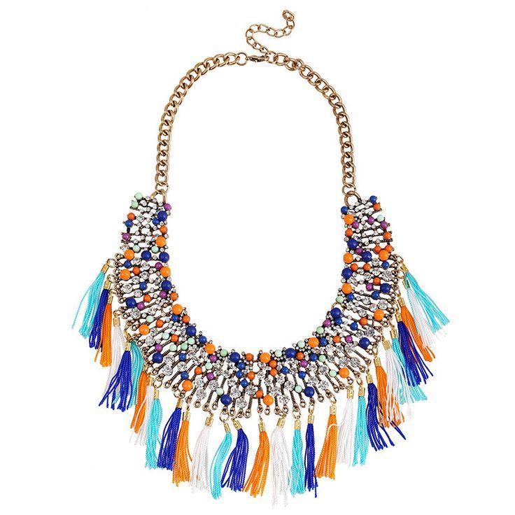 Wedding - Retro Colors Statement Necklace
