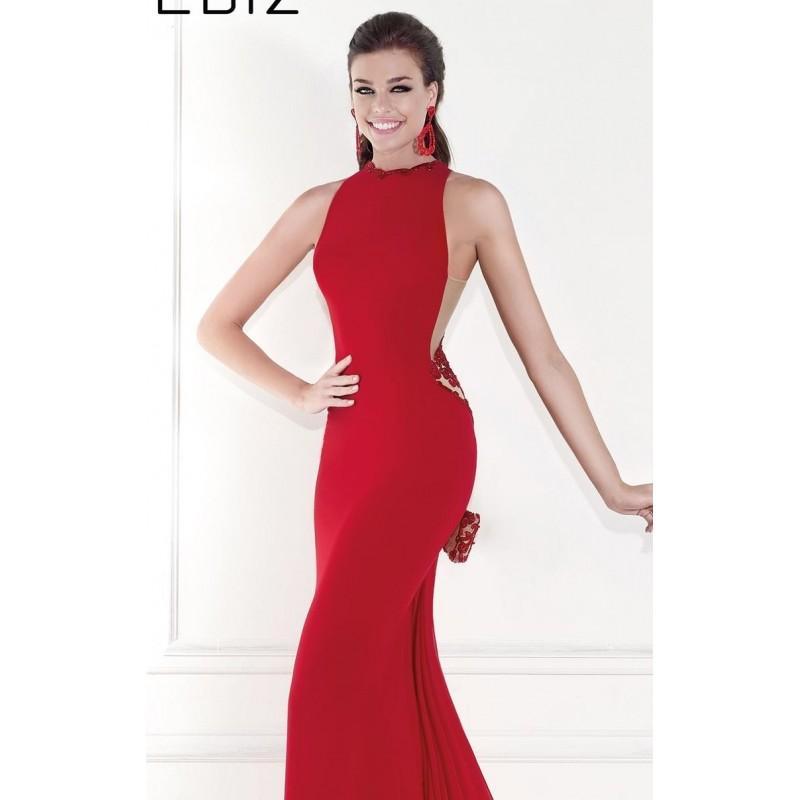 Hochzeit - Red Beaded Halter Neck Gown by Tarik Ediz - Color Your Classy Wardrobe