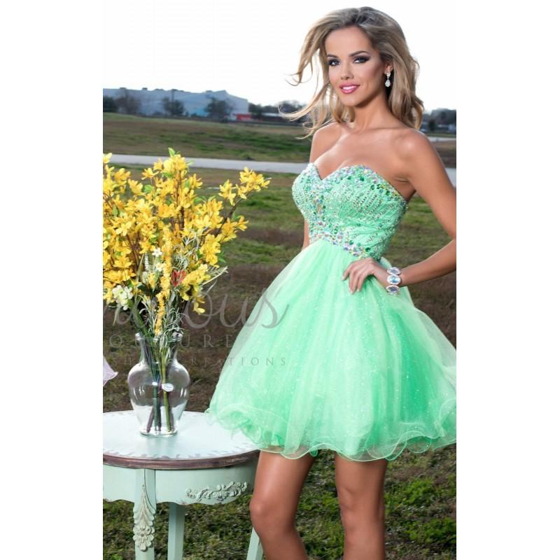 Wedding - Shamrock Strapless Shimmer Tulle Dress by Envious Couture Prom - Color Your Classy Wardrobe