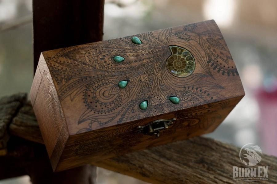 Box Wooden Box Jewelry Box Engraved Wooden Box Custom Box