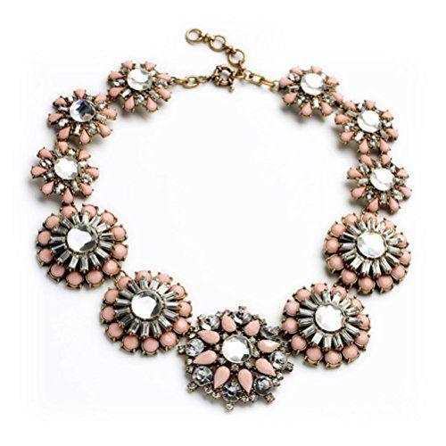 زفاف - Amazon.com: Charmlight Jewelry Popular Golden Tone Vintage Pink Round Beads Wild Collar Statement Necklace: Jewelry