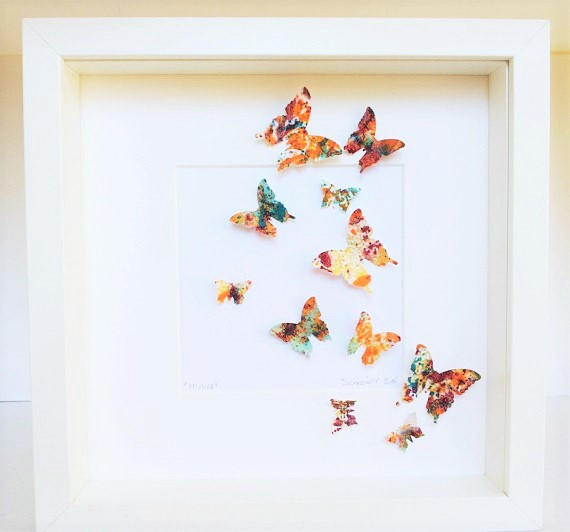 painted butterflies handmade paper butterfly art