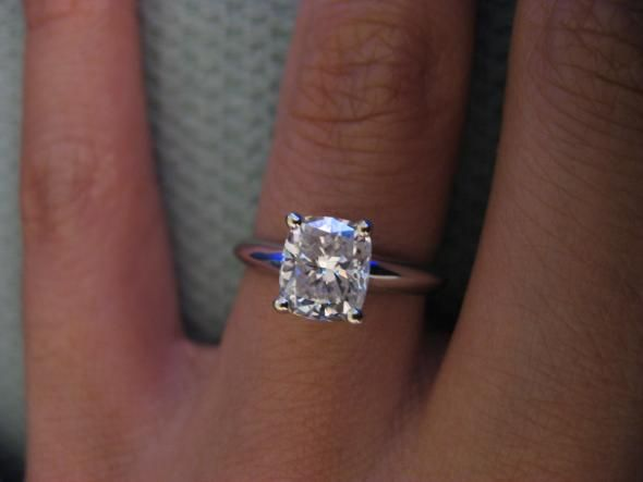 Boda - Cushion Cut Engagement Ring… Post You Photos! - Weddingbee