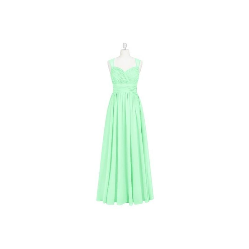 Mariage - Mint_green Azazie Dara - Sweetheart Chiffon Floor Length Illusion Dress - Charming Bridesmaids Store