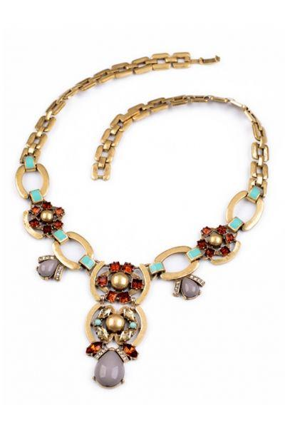 Свадьба - Tantalizing Plated Floral Necklace - OASAP.com