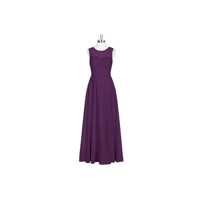 Hochzeit - Grape Azazie Justine - Floor Length Illusion Chiffon Sweetheart Dress - Cheap Gorgeous Bridesmaids Store