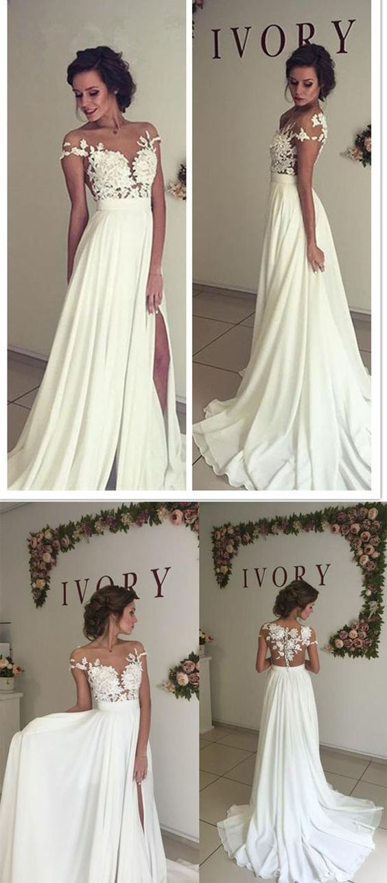 Mariage - See Through Chiffon Wedding Dresses