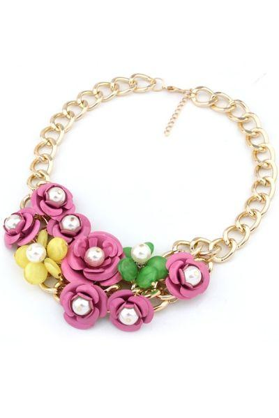 Mariage - Exquisite Rosette Bib Necklace - OASAP.com