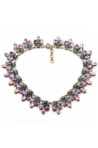 Boda - Dazzling Crystal Rhinestones Beaded Necklace - OASAP.com