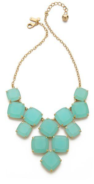 Mariage - Women's Blue Shaken Stirred Statement Necklace