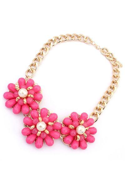 Düğün - Candy Color Floral Bib Necklace - OASAP.com