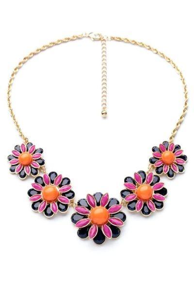 Wedding - Elegant Floral Bib Necklace - OASAP.com