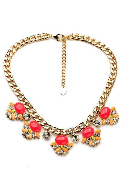 زفاف - Pink Pendant Necklace - OASAP.com