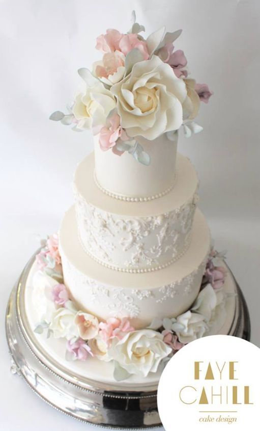 Wedding - Faye Cahill Cake Design Wedding Cake Inspiration