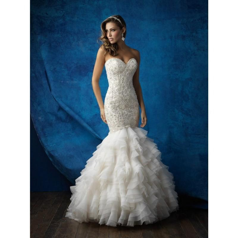 Allure Bridals 9355 Wedding Dress - Allure Bridals Long Drop Waist ...