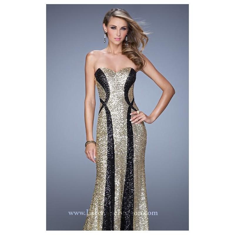 Wedding - Color Block Sequin Gown by La Femme 20987 - Bonny Evening Dresses Online