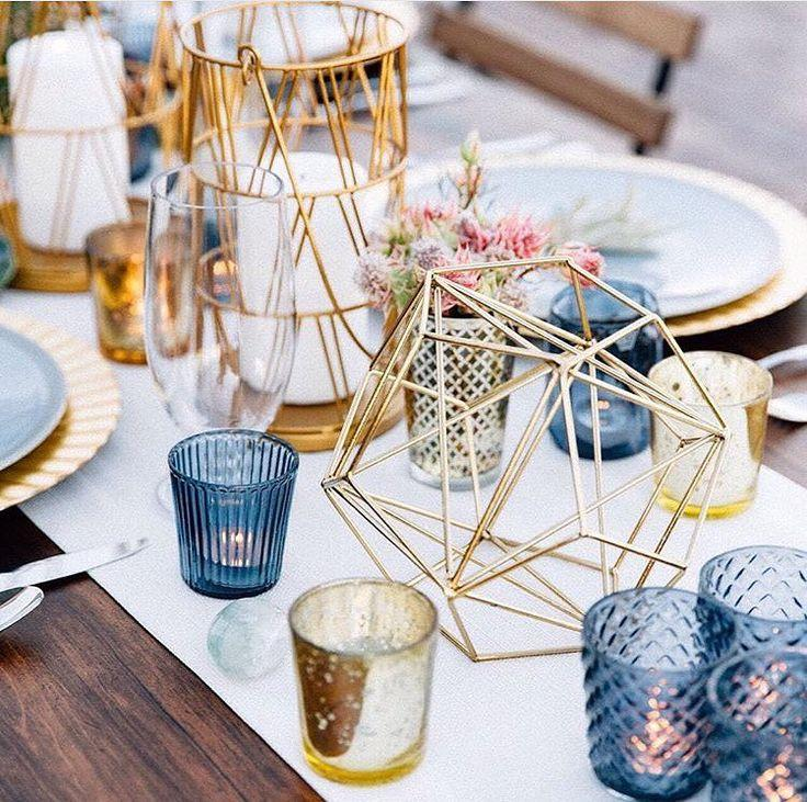 "Mariage - The Knot On Instagram: ""These Geometric Centerpieces Are PERFECT For A Glam, Modern Affair!  #theknot : @tashabradyphoto"