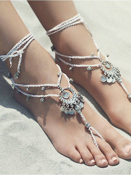 Wedding - Free People Macrame Anklet Duo