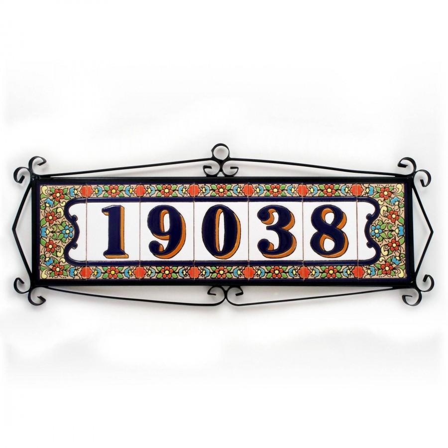 Wedding - Enamel number tile, Modern mailbox number, Rustic mailbox number, Enamel letter tile, Number tile, Mailbox number, Letter tile, House number